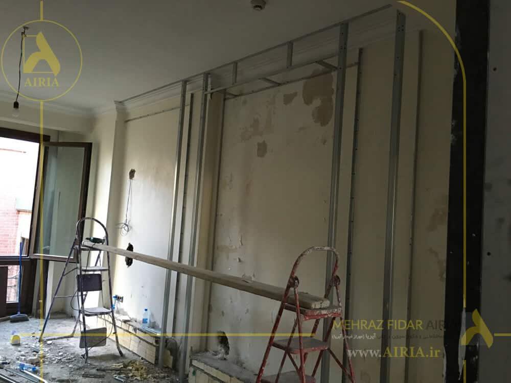 اجرای کناف نور مخفی در اجرای دکوراسیون داخلی اتاق جلسات دفتر کار در تهران - الهیه