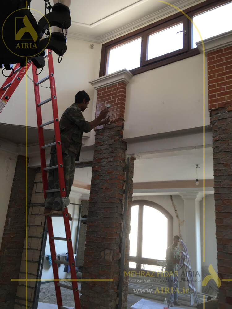 تخریب برای بازسازی سالن انتظار دفتر کار اداری در تهران -الهیه