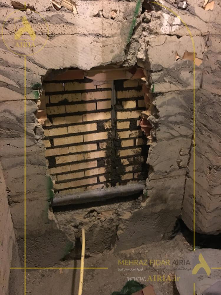 تخریب برای نصب فلاشتانک توکار در بازسازی سرویس مشترک دفتر کار اداری در تهران - الهیه