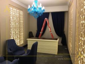 شکل نهایی اتاق جلسات در پروژه دکوراسیون داخلی دفترکار در تهران-الهیه