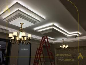 طرح اول در اجرای دکوراسیون داخلی سقف کناف اتاق مدیریت دفتر کار در تهران -الهیه