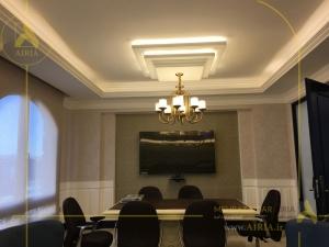 تصویر اجرای دکوراسیون داخلی دیوار تلویزیون اتاق مدیریت دفتر کار در تهران copy
