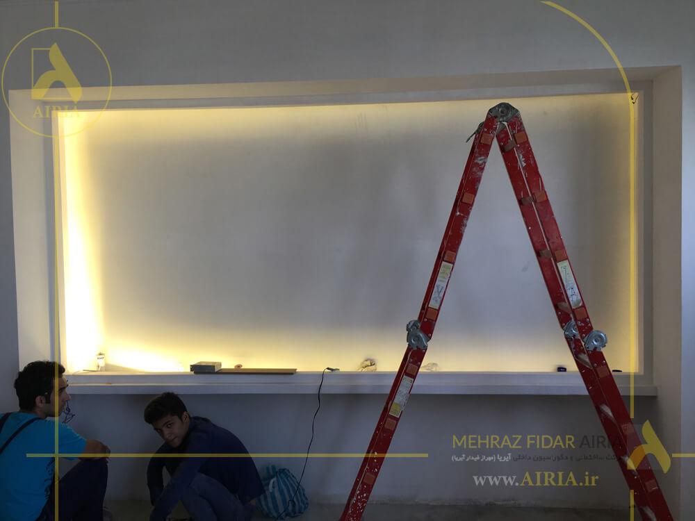 نور دکور در اجرای دکوراسیون داخلی اتاق مدیریت دفتر کار در تهران - الهیه