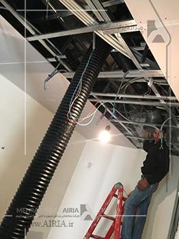 اجرای سیستم سرمایش و گرمایش جدید در بازسازی خانه