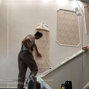 المانهای دکوراتیو مانند کاغذ دیواری تعمیرات جزئی در بازسازی بحساب می آیند