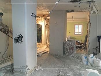 بخشهای مختلف خانه برای بازسازی