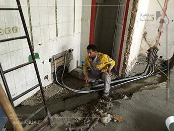 تعویض لوله کشی بعنوان تعمیرات جزئی در بازسازی ساختمان