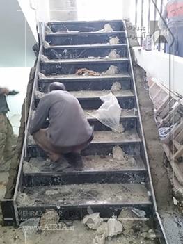 راهپله ها به احتمال زیاد یکی از بخشهای مختلف ساختمان برای بازسازی هستند