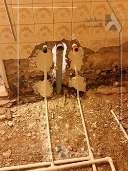 لوله کشی آب سرد و گرم در بازسازی خانه