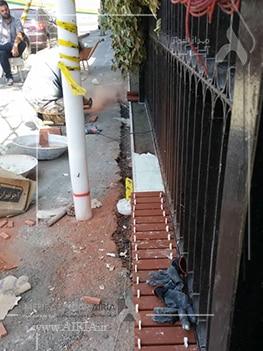 پیاده روی جلوی ساختمان را باید برای بازسازی کنترل کرد