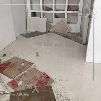 کف مغازه یا فروشگاه جزء بخشهای مختلف فروشگاه برای بازسازی است که زود فرسوده می شود