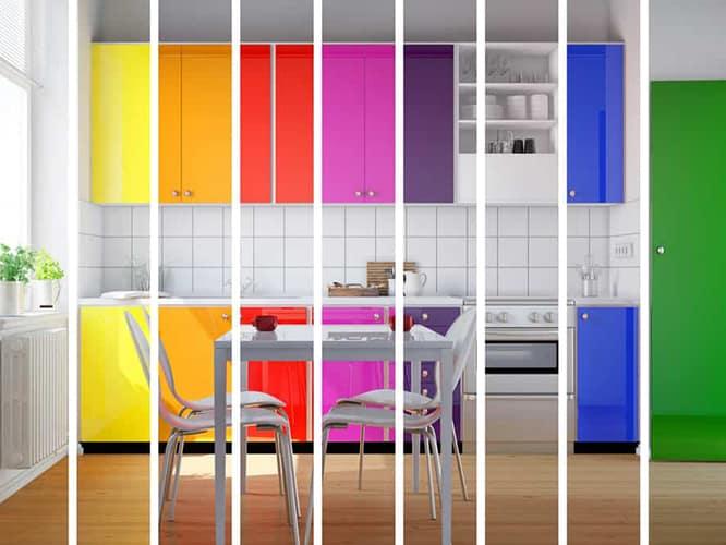 رنگ کابینت آشپزخانه خاص