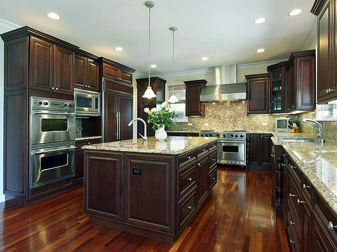 رنگ کابینت آشپزخانه قهوه ای